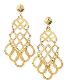 16k Gold-Plated Lace Earrings by Tory Burch at Neiman Marcus.