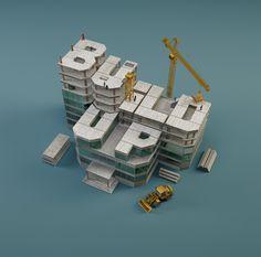 Build Up Typography, #3D, #Graphic #Design, #Typography