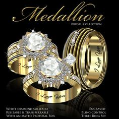 Second Life Marketplace - Exquisite Medallion Bridal Collection Gold