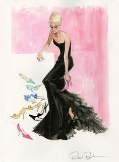 Fashion illustration by Robert Best. Barbie sol, sketch, ilustração de moda, croqui