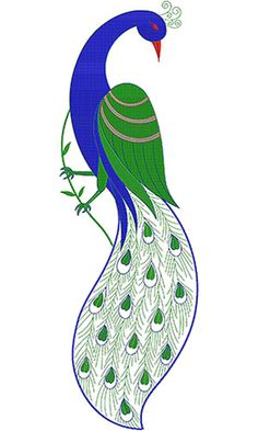 Peacock Wall Art Embroidery Design