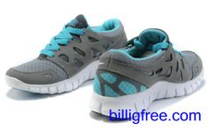 Verkaufen billig damen Nike Free Run 2 Schuhe (Farbe:vamp-grau,innen-blau, Logo, Sohle-weiB) Online in Deutschland.
