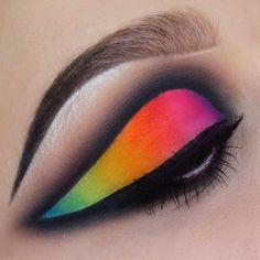 15 Life-Saving Products For Anybody With Oily Eyelids White Eyeshadow, Eyeshadow Base, Neon Eyeshadow, Makeup Inspo, Beauty Makeup, Makeup Ideas, Makeup Stuff, Crazy Eye Makeup, Colorful Makeup