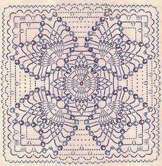 Risultati immagini per pastilla en crochet Crochet Motif Patterns, Crochet Blocks, Crochet Mandala, Crochet Diagram, Crochet Chart, Crochet Squares, Thread Crochet, Filet Crochet, Crochet Designs