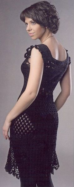 Sexy crochet dress PATTERN sleeveless dress crochet cocktail