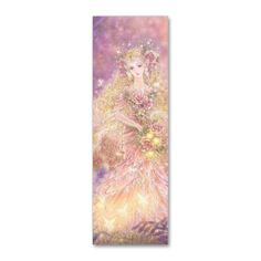 Pretty Fantasy Art - Fairy / Faerie with pretty flowers - Lady of the Forest Bookmark Business Card template