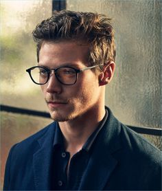 A smart vision, McCaul Lombardi dons optical frames from Ermenegildo Zegna for the brand's Defining Moments campaign.