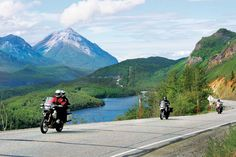 Alaskan roads can be a good deal of fun to ride, as shown here along the Glenn Highway. An article about motorcycling in the area was published in the October 2011 issue of Rider magazine.