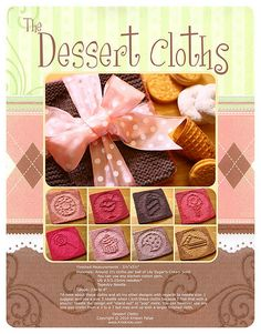 Ravelry: Dessert Cloths pattern by Kris Knits Dishcloth Knitting Patterns, Crochet Dishcloths, Knitting Stitches, Knit Patterns, Ravelry Crochet, Filet Crochet, Quick Knitting Projects, Spa Items, Knitted Washcloths