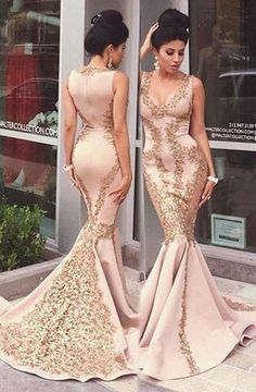 6d23dc9b7d1 Mermaid Scoop Sleeveless Sweep Train Pink Prom Dress with Appliques Beading  Cheap Evening Gowns