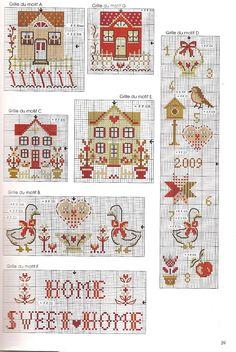 cross stitch chart - houses, Home Sweet Home & more Gallery.ru / Фото #37 - DFEA-carnet de broderie №3 - Orlanda