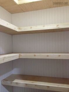 How to Build Corner Floating Shelves How to Build Corner Floating Shelves,For the Home How to Build Corner Floating Shelves – Sawdust Girl® Related posts:How to Build Pantry Shelving - Diy pantry shelvesapple ciders. Build Floating Shelves, Farmhouse Pantry, House, Shelves, Home, Farmhouse Diy, Home Renovation, Closet Shelves, Pantry Design