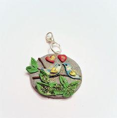 Figuren - Charm Anhänger Vogel  - ein Designerstück von kleineBastelelfe bei DaWanda