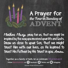Prayer for the Fourth Sunday of Advent #ouradvent