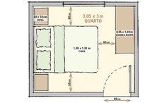 As metragens mínimas para sala, quarto, cozinha e banheiro