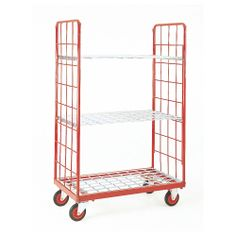 Narrow Aisle Distribution Trolley with Rod Base Folding Trolley, Warehouse Logistics, Shelving Systems, Roll Cage, Industrial Shelving, Tubular Steel, Storage Design, Workshop, Suit