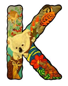 the letter K - painting by Jason Wright...