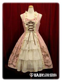 Poison de lámour 柄プリンセスジャンパースカート / Poison de lámour princess jumper skirt in Rose Colorway ~ WANT!