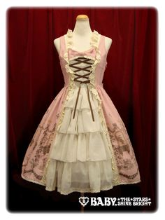 Poison de lámour 柄プリンセスジャンパースカート / Poison de lámour princess jumper skirt in Rose Colorway ~ WANT!