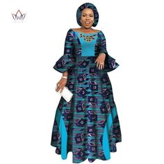 2019 African Dresses for Women Long Sleeve Dresses for Women Party Wedding Casu. by laviye 2019 African Dresses for Women Long Sleeve Dresses for Women Party Wedding Casual Date Dashiki Afric Long African Dresses, Latest African Fashion Dresses, African Print Dresses, African Print Fashion, African Clothes, African Women Fashion, Traditional African Clothing, Style Africain, Elegant Party Dresses