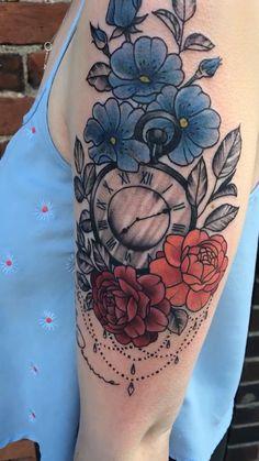 Tattoo for my daughter – floral tattoo sleeve Key Tattoos, Forearm Tattoos, Cute Tattoos, Beautiful Tattoos, Flower Tattoos, Tattoos For Women Half Sleeve, Foot Tattoos For Women, Shoulder Tattoos For Women, Tattoo Daruma