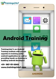 android is becoming very good platform for IT professionals who want to switch their career and as well as seeking android job oriented training from Trainings24x7, fresher can get the job easily in IT industry.