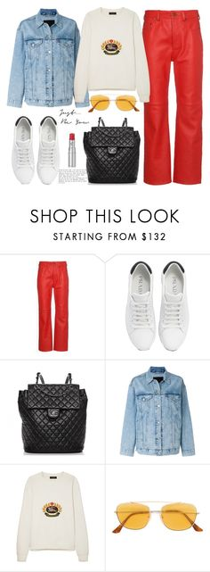 """""""A relaxing day"""" by giotibi ❤ liked on Polyvore featuring Acne Studios, Prada, Chanel, Levi's, Burberry, RetroSuperFuture, Chantecaille and polyvoreeditorial"""