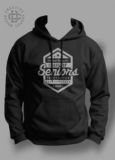 2016 Senior hooded sweatshirt by CreativeDesignLeague on Etsy