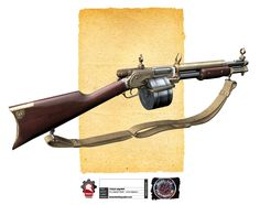 M1919. This drum fed shotgun was once a staple in any breaching squad during The Great War. Sadly, many of the surviving M1919's have been discontinued and see more service is a museum than on any street.