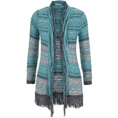maurices Cardigan With Long Sleeves And Fray Hem ($34) ❤ liked on Polyvore featuring tops, cardigans, superior green combo, lightweight cardigan, blue top, maurices, long sleeve tops and long sleeve open front cardigan