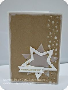 Stars, star border punch, stampin up
