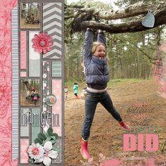 #papercraft #scrapbook #layout.  She did it - Scrapbook.com