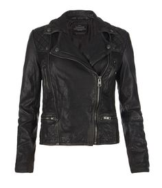 Cargo Leather Biker Jacket | Womens Leather Jackets | AllSaints