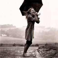 having fun on rainy day