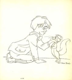 "Original layout drawing by Chuck Jones for his 1975 television special ""Rikki Tikki Tavi""  (via Chuck Redux)"