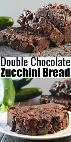 Chocolate Zucchini Bread Recipe is sooo delicious and easy to make for dessert! A favorite recipe to use summer zucchini from Serena Bakes Simply From Scratch. Easy No Bake Desserts, Great Desserts, Köstliche Desserts, Delicious Desserts, Dessert Recipes, Recipes Dinner, Homemade Snickers, Homemade Chocolate, Chocolate Recipes
