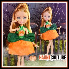 """Fairytale Princess Monster Doll Haunt Couture Halloween 2016: """"Pumpkin Princess"""" fierce ever after high fashion outfit"""