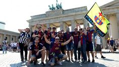 Barcelona fined for fans' pro-Catalonia banners at Champions League final.  NYON, Switzerland -- UEFA has fined Barcelona for fans displaying pro-Catalonia political banners at the Champions League final. UEFA says its disciplinary panel ordered Barcelona to pay a €30,000 fine. Fans showed banners supporting independence for the Catalonia region of Spain in the Olympic Stadium in Berlin.