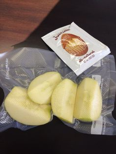 Healthy snacks using my food saver.  Apples stay good all week. No chemicals.