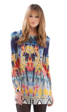 Twelfth St. by Cynthia Vincent   Long Sleeve Mini Dress