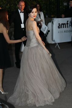 Fan Bingbing at amfAR Gala in Cannes during the Cannes Film Festival