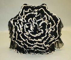 Fashion and Costume History     – ephemeral-elegance:   Ruffled Tulle Parasol, ca....