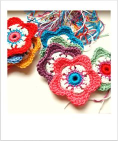 Flowers, free pattern by Stins in Dutch and English