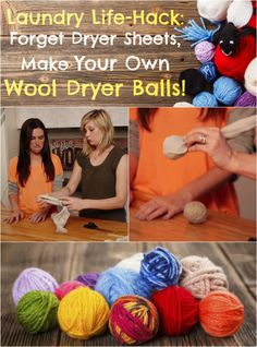 Laundry Life-Hack: Forget Dryer Sheets, Make Your Own Scented Wool Dryer Balls!