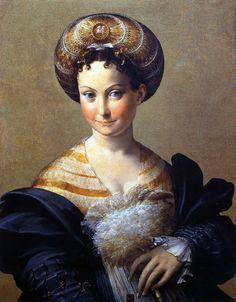 Parmigianino (Girolamo Francesco Maria Mazzola) (Italian 1503–1540) [Mannerism] Turkish Slave, c. 1533.