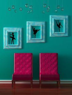 Ballet Dancer Set 2 Lot of 3  Vinyl Wall Art by VinylWallAccents, $35.00