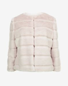 Faux fur cropped jacket - Nude Pink   Jackets & Coats   Ted Baker