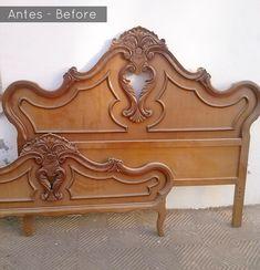 Esta bonita pizarra era un antiguo cabecero. ¿Quieres verlo? Seguro que te da alguna idea para transformar un mueble.