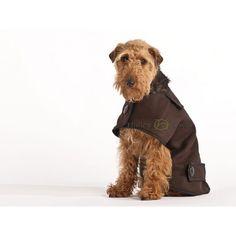 Casual Woollen Dog Coat - Dark Brown