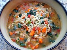 Alosha's Kitchen: Chicken and Orzo Soup with Kale and White Beans